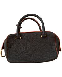 Delvaux Cool Box Leather Bag - Brown