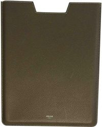 Céline - Pre-owned Leather Ipad Case - Lyst