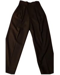 Marc Jacobs Wool Trousers - Black