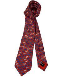 Hermès - Corbata de Seda - Lyst