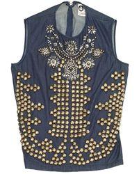 Lanvin Navy Cotton Top - Blue