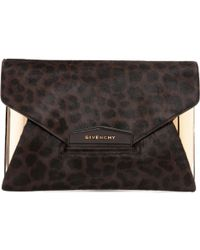 Givenchy - Pre-owned Pony-style Calfskin Clutch Bag - Lyst