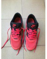 Nike Air Max 90 Leinen Niedrige turnschuhe - Rot