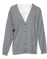 T By Alexander Wang Grey Wool Dress - Gray