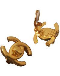 Chanel Boucles d'oreilles - Métallisé