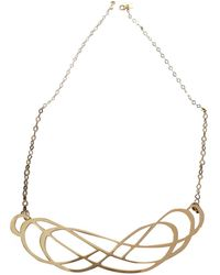 Ginette NY - Pink Gold Necklace - Lyst