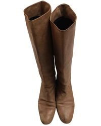 Chloé Leather Riding Boots - Brown