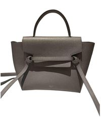Céline Belt Grey Leather Handbag