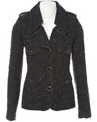 Barbara Bui - Anthracite Cotton Jacket - Lyst