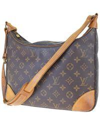 Louis Vuitton Bolsa de mano en lona marrón Boulogne - Multicolor
