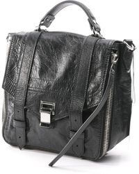 Proenza Schouler Ps1 Backpack Black Leather Backpack