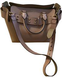Burberry The Belt Leather Handbag - Pink