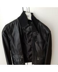 CALVIN KLEIN 205W39NYC Leather Short Vest - Black