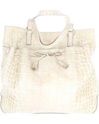 Anya Hindmarch Beige Crocodile Handbag - Natural