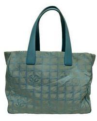 Chanel Leinen Shopper - Blau