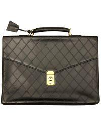 Chanel Leder Aktentaschen - Schwarz