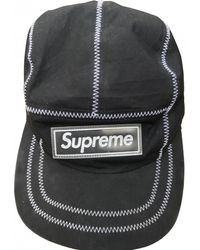 edf5a5ec167 Lyst - Supreme Black Cotton Hats   Pull On Hats in Black for Men