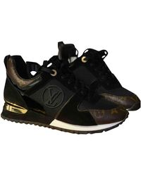 Louis Vuitton Sneakers Run Away in Tela - Nero