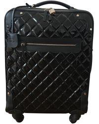Chanel Valigie in vernice nero