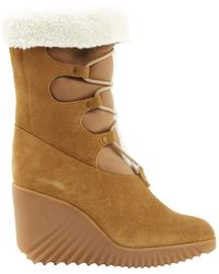Chloé Camel Suede Boots - Multicolour