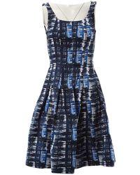 Oscar de la Renta Midi kleid - Blau