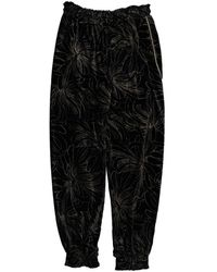 Chloé Velvet Large Trousers - Black