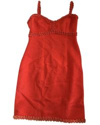 Chanel Tweed Dress - Red