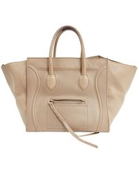 Céline luggage Phantom Beige Leather Handbag - Natural