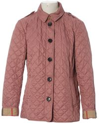 Burberry Chaqueta en algodón rosa - Multicolor