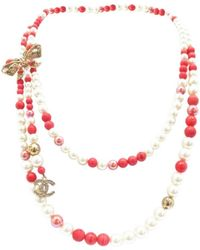Chanel - Multicolour Pearl Necklace - Lyst