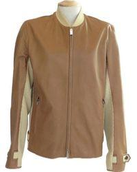 Hermès Brown Leather Jacket