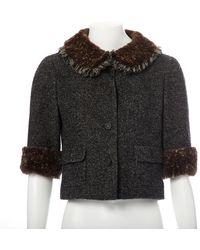 Chanel Vest en Laine Gris - Noir