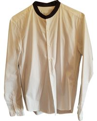 Sandro Chemises en Coton Blanc