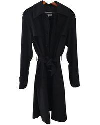 Maison Margiela Abrigo en algodón negro