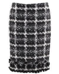 Oscar de la Renta Black Cotton Skirt