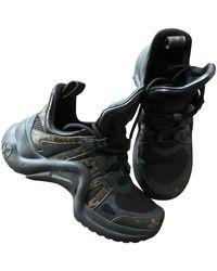 Louis Vuitton Archlight Leinen Sneakers - Schwarz