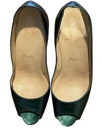 Christian Louboutin Bianca Patent Leather Heels - Green