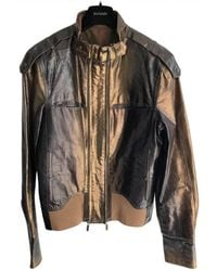 Roberto Cavalli Leather Jacket - Metallic