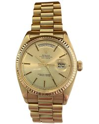 Rolex Day-date 36mm Yellow Gold Watch - Multicolour