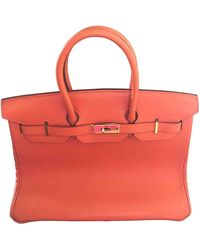 Hermès Sac à main Birkin 35 en Cuir Orange