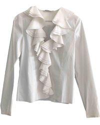 Dior White Cotton Top