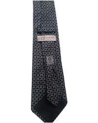 Loewe Black Silk Tie
