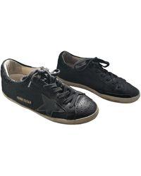 Golden Goose Deluxe Brand V-Star Leder Sneakers - Schwarz