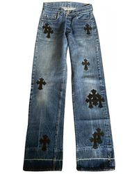 Chrome Hearts Jeans Baumwolle Blau
