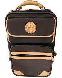 Lancel Brown Cloth Travel Bag