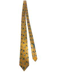 Hermès Corbata de Seda - Amarillo
