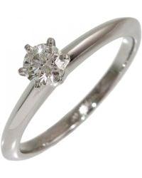 Tiffany & Co. - Silver Platinum Ring - Lyst
