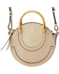 Chloé Pixie Beige Leather Handbag - Natural