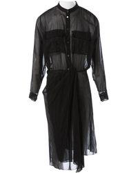 Acne Studios Robe en Coton Noir