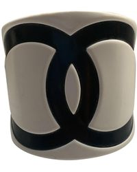 Chanel White Plastic Bracelet - Multicolour